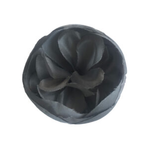 smoky grey silk lapel flower
