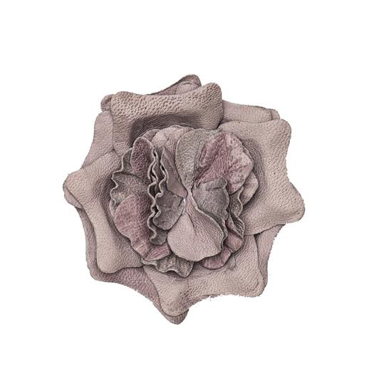 Light purple leather lapel flower