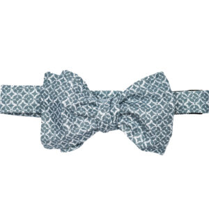 Tied large butterfly blue 2 toned bow tie
