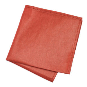 small Salmon pink cotton pocket square