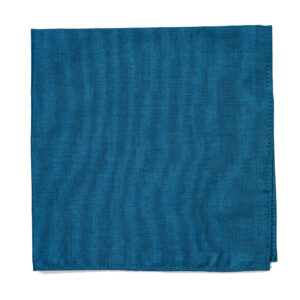 large Smoke blue cotton pocket square